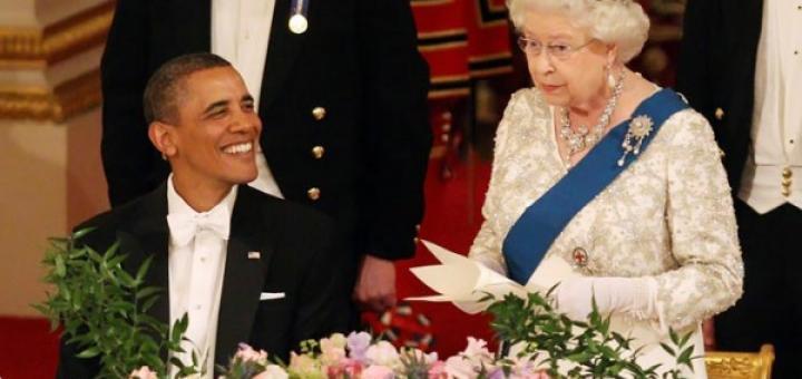 Обама и королева Елизавета