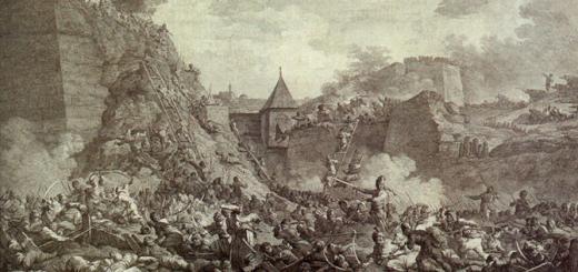 Штурм Очакова. Гравюра А. Берга, 1792 год.