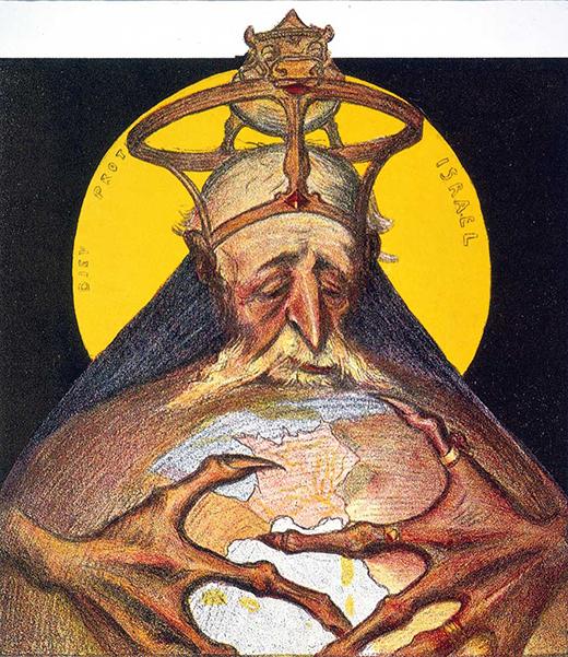 Антисемитская французская карикатура о том, как евреи в лице Джеймса Ротшильда захватили мир