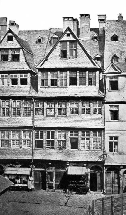 Дом в гетто Франкфурта-на-Майне, где жила семья Ротшильд