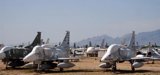 Кладбище авиатехники Тусон, Аризона, США