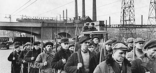 Рабочие отряды на проспекте Стачек в Ленинграде. 25 сентября1941 г.