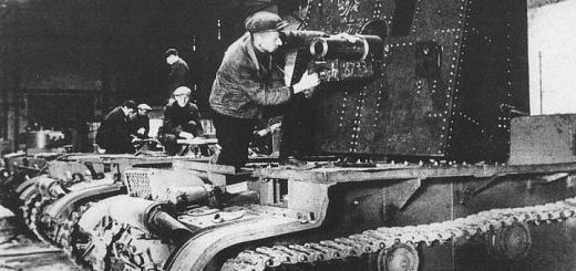 Установка 76-мм пушки на шасси танка Т-26. Завод имени Кирова, Ленинград. Осень 1941 года.