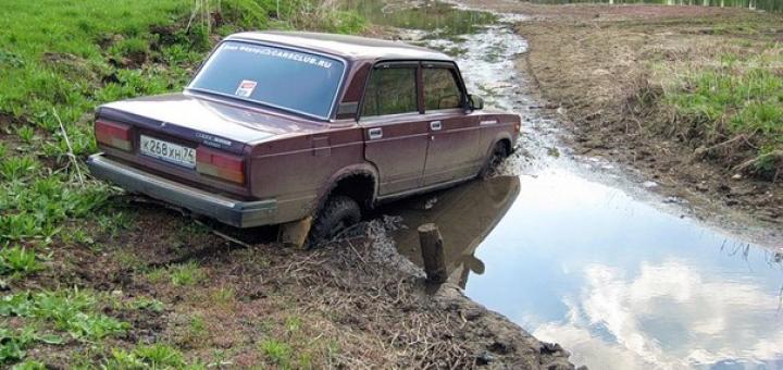 ВАЗ в грязи Россия