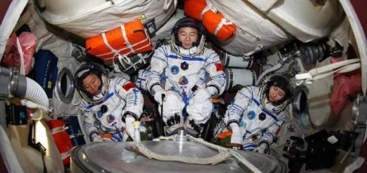 Три китайских космонавта