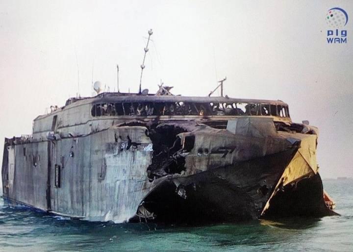 Американский чудо-корабль HSV-2 Swift сгорел